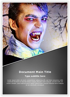 vampire Editable Word Template