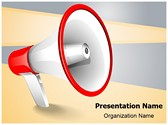 Advertisement Broadcasting Megaphone Editable PowerPoint Template
