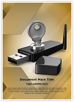 Wifi Security key Editable Word Template