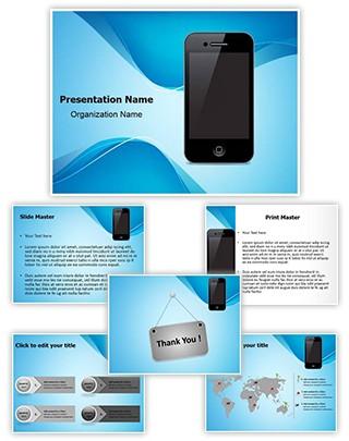 Smart Phone Editable PowerPoint Template