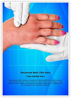 swollen hand Editable Word Template
