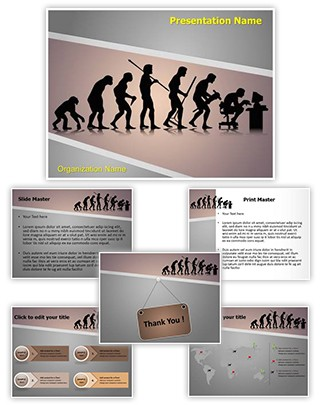 Human Evolution Editable PowerPoint Template