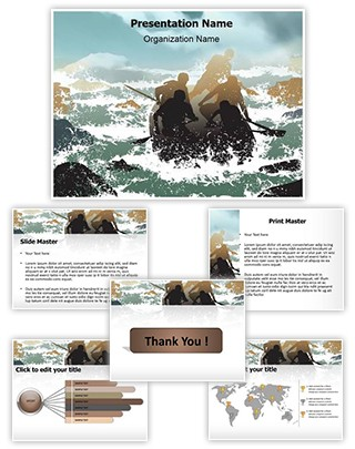 Extreme Sports Rafting Editable PowerPoint Template