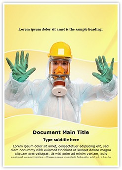 Bio-hazard Suit Editable Word Template
