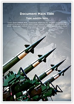 Antiaircraft rockets Editable Word Template