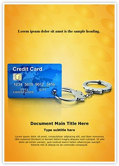 Bankruptcy concept Editable Word Template