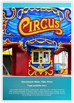 Circus Editable Word Template