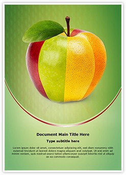 Mixed Fruit Apple Editable Word Template