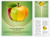 Mixed Fruit Apple Template