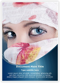 Veiled woman Editable Word Template