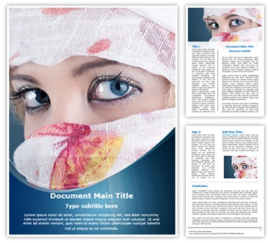 Veiled woman Editable Word Document Template