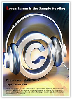 Copyright Music Editable Word Template
