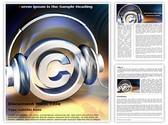 Copyright Music Editable Word Template