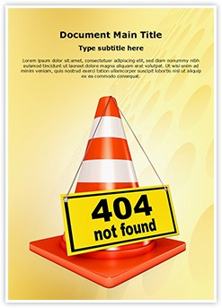 404 Error Editable Word Template