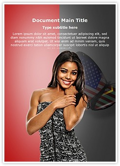 African American Beauty Editable Word Template