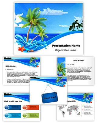 Beach Palms Editable PowerPoint Template