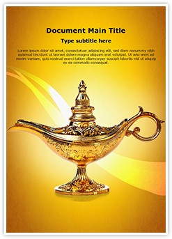 Aladdin Lamp Editable Word Template
