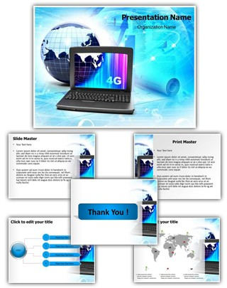 Computer Globe Editable PowerPoint Template