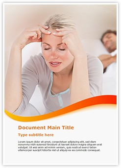 Sleeping Disorder Editable Word Template