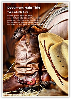 American Cowboy Editable Word Template