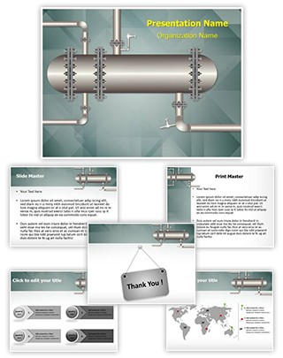 Apparatus Cooling Heating Editable PowerPoint Template