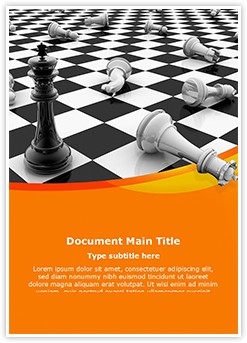 Chess king Editable Word Template