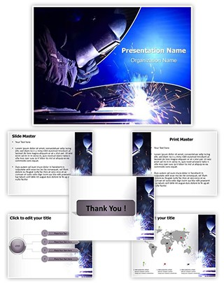 Welding Electrodes Editable PowerPoint Template