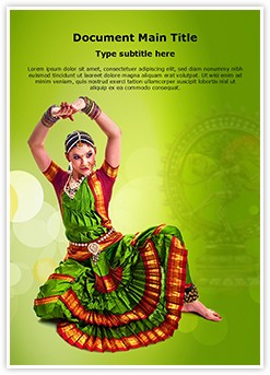 Bharatanatyam Editable Word Template