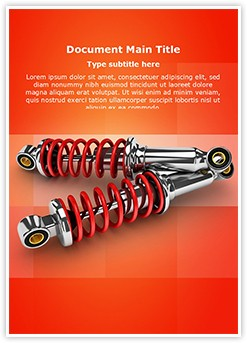 Bike Shock Absorber Editable Word Template