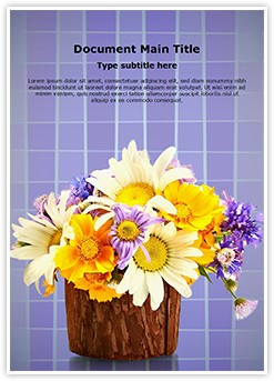 Bouquet Editable Word Template