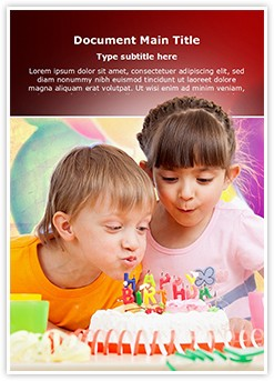Birthday celebration Editable Word Template
