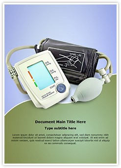 Blood Pressure Monitor Editable Word Template