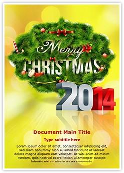 Merry Christmas New Year Editable Word Template