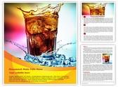 Overflowing Drink Editable Word Template