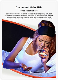 Sleeping Pills Editable Word Template