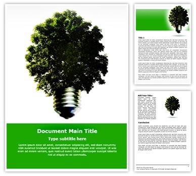 Green Environmental Energy Free Word Template
