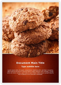 Chocolate Cookies Editable Word Template
