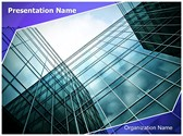 Glass Skyscrapers Editable PowerPoint Template