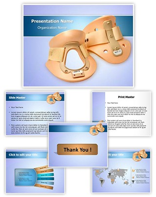 Cervical Collar Editable PowerPoint Template