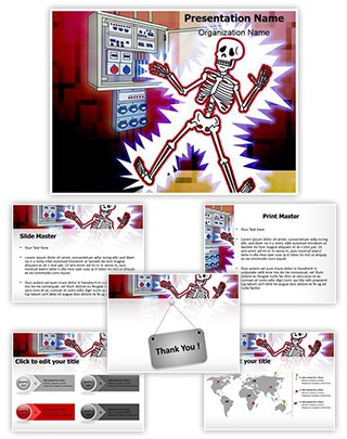 Electric Shock Illustration Editable PowerPoint Template