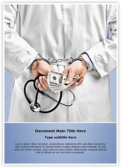 Doctor handcuffs Editable Word Template