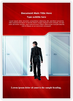Door to Success Editable Word Template