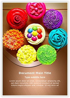 Cupcakes Editable Word Template