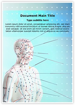 Alternative medicine Acupuncture Editable Word Template