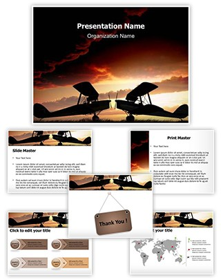 World War Planes Editable PowerPoint Template