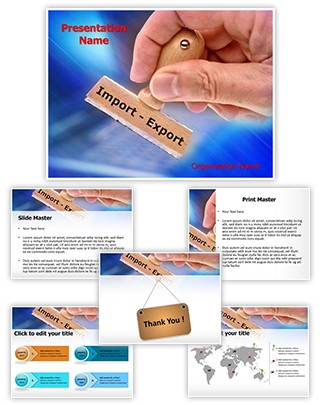 Export Import Editable PowerPoint Template