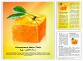 Cube orange Editable Word Template