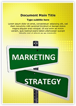 Marketing Strategy Editable Word Template