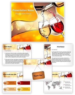 Pouring Wine Editable PowerPoint Template