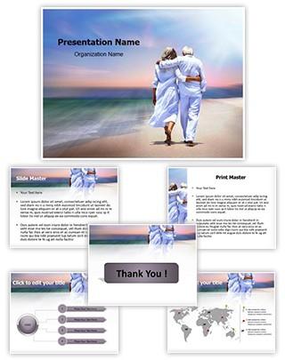 Senior Couple Editable PowerPoint Template